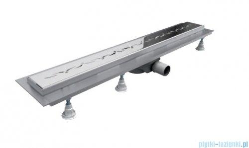Schedpol Base-Low odpływ liniowy z maskownicą Stamp 90x8x6,5cm OLSP90/ST-LOW