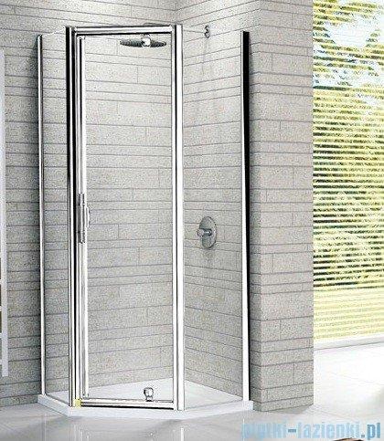 Novellini Kabina prysznicowa pięciokątna LUNES Pentagon G 100 cm szkło przejrzyste profil srebrny LUNESPG100-1B