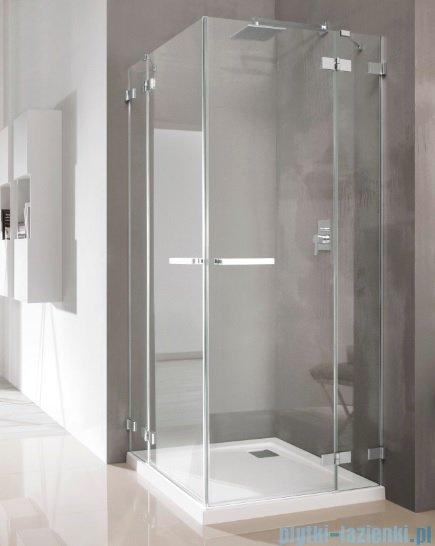 Radaway Euphoria KDD Kabina prysznicowa 90x90 szkło przejrzyste + brodzik Delos C + syfon