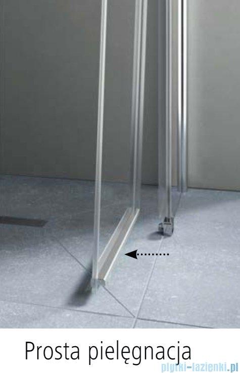 Kermi Pega drzwi wahadłowe 1-skrzydłowe 90 cm lewe przejrzyste PE1TL09020VPK