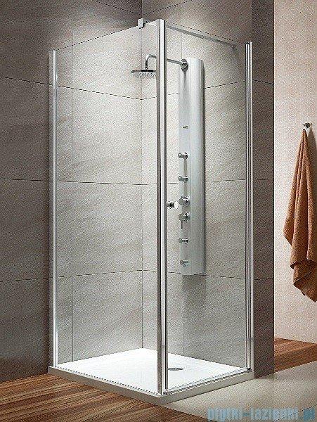 Radaway Eos KDJ kabina prysznicowa 80x100 prawa szkło przejrzyste + brodzik Doros D + syfon