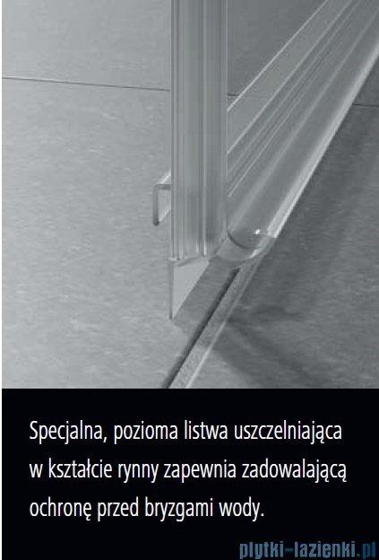 Kermi Nica drzwi przesuwne 2-częściowe z polem stałym prawe 120 cm NID2R12020VPK