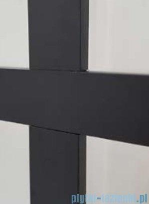 Kermi kabina Walk-in Dark Edition 140x200 cm kratka dekoracyjna profil XDWW2140203PK
