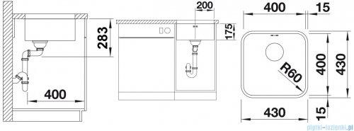 Blanco Supra 400-U komora podwieszana  stal szlachetna szczotkowana z k. aut.  518202