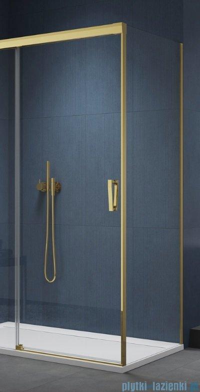 SanSwiss Cadura Gold Line ścianka boczna Cast 80x200cm profile złote CAST0801207