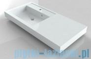 Riho Umywalka z marmuru syntetycznego z prawym blatem 100x48 Bologna F7BO1100481112