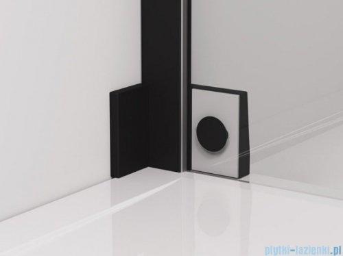 SanSwiss Cadura Black Line drzwi wahadłowe 75cm jednoczęściowe lewe z polem stałym czarny mat CA13G0750607