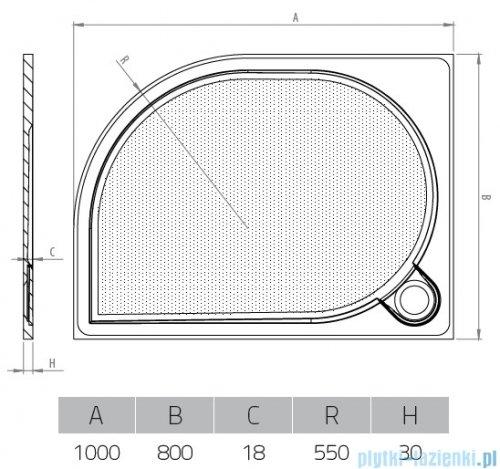 Vayer Citizen Virgo 100x80cm brodzik asymetryczny prawy