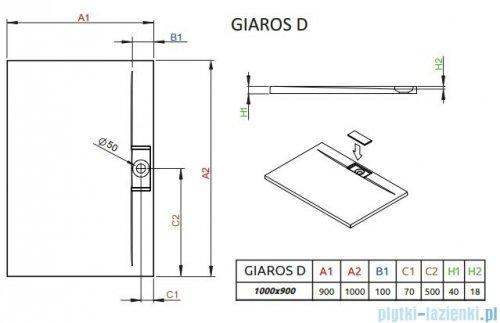 Radaway Fuenta New Kdj+S kabina 90x100x90cm prawa szkło przejrzyste + brodzik Doros D + syfon SDRD1090-01