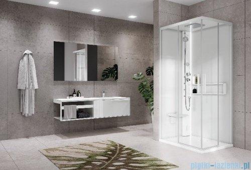 Novellini Glax 2 2.0 kabina masażowo-parowa 90x70 lewa total biała G22A9070SM5-1UU