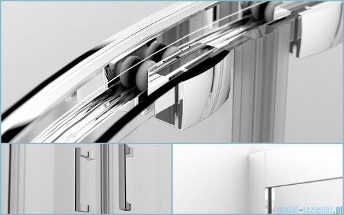 Besco Modern kabina półokrągła z brodzikiem 90x90 przejrzyste MP-90-165-C/#BAO-90-NR
