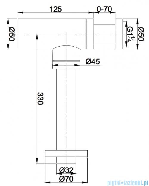 Omnires syfon umywalkowy ozdobny brąz A186BR