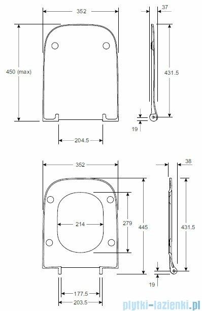 Koło Modo deska sedesowa Slim antybakteryjna L30114