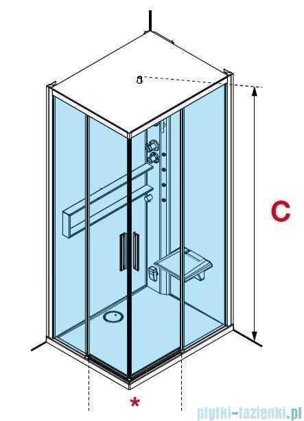 Novellini Glax 2 2.0 kabina z hydromasażem hydro plus 80x80 total biała G22A89T1L-1UU