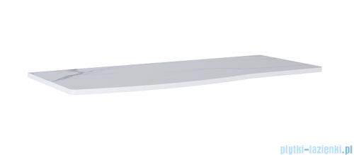 Elita Rolly blat szafkowy lewy 121x50cm marmur biały calacatta 167799