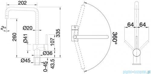 Blanco Finess bateria wysokociśnieniowa kolor: stal szlach. szczotkowana 517179