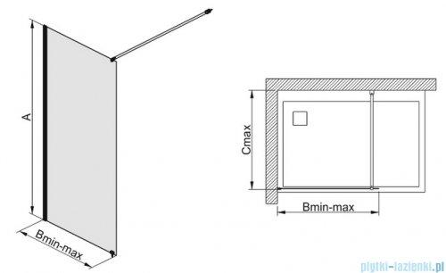 Sanplast kabina prysznicowa narożna typu Walk In  P/FREE-90 przejrzyste 600-260-0430-42-401