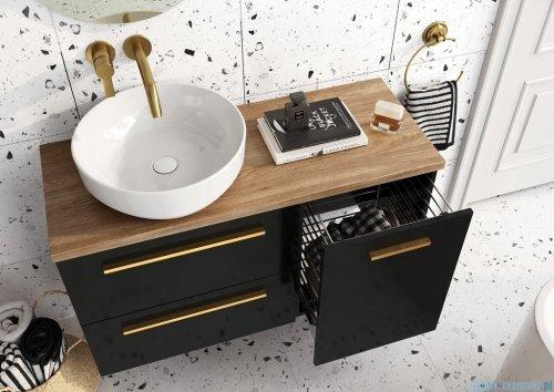 Elita Kwadro Plus szafka z umywalką 80x53x40cm black 167647/22052006N