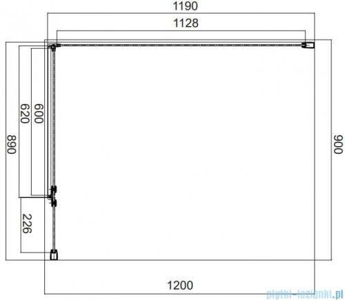 Omnires Manhattan kabina prostokątna 90x120cm szkło przejrzyste MH9012CRTR