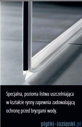 Kermi Tusca wejście narożne, jedna połowa, lewa, szkło przezroczyste KermiClean, profil srebro 75x200cm TUEPL07520VPK