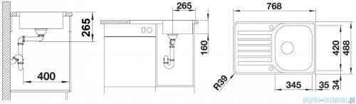 Blanco Lantos 45 S-IF Compact zlewozmywak stal szlachetna szczotkowana z k. aut. 519059