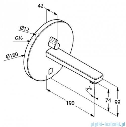 Kludi Zenta ścienna elektroniczna bateria umywalkowa 3850105