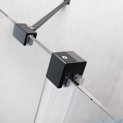 Radaway Furo Black DWJ drzwi prysznicowe 110cm lewe szkło przejrzyste 10107572-54-01L/10110530-01-01
