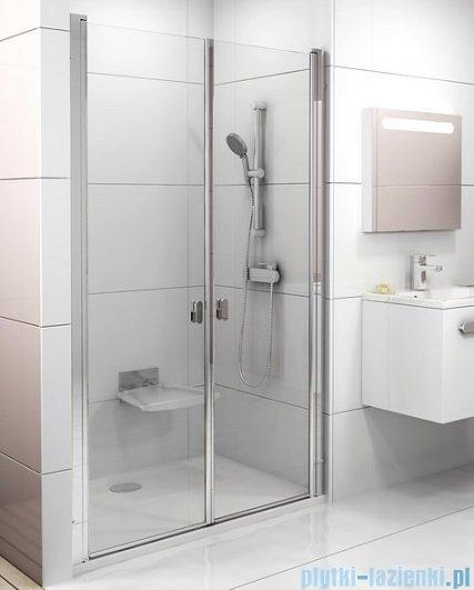 Ravak Chrome CSDL2 drzwi prysznicowe 90cm białe transparent 0QV7C10LZ1