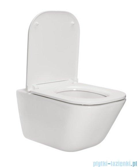 Roca Gap Rimless MaxiClean miska WC wisząca + deska wolnoopadająca Slim