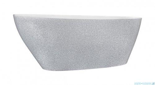 Besco Goya Glam srebrna 160x70cm wanna wolnostojąca + odpływ klik-klak