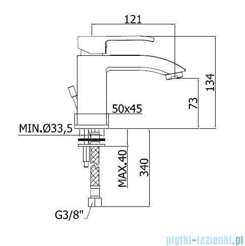 Paffoni Bateria umywalkowa Level Standard chrom LES071CR