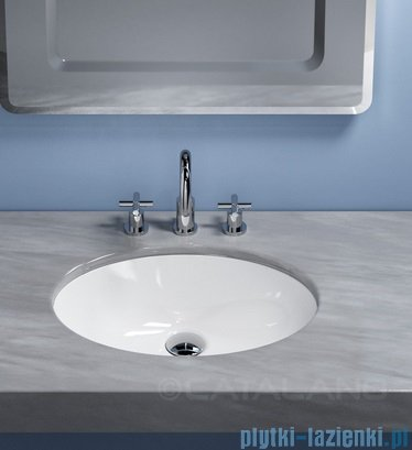 Catalano Sottopiano 52 umywalka podblatowa 52x42 cm biała 1SO5200