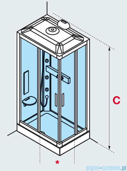 Novellini Glax 3 kabina prysznicowa standard 100x70 lewa srebrny GL3A197SM-1B