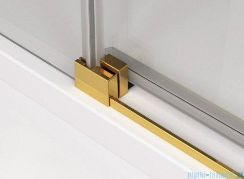 SanSwiss Cadura Gold Line drzwi przesuwne 140cm jednoskrzydłowe lewe z polem stałym CAS2G1401207