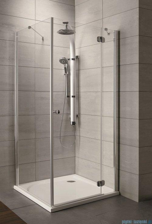 Radaway Torrenta Kdj Kabina prysznicowa 80x90 prawa szkło grafitowe + brodzik Doros D + syfon 32247-01-05NR