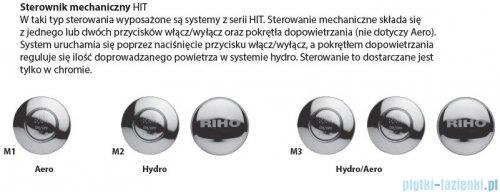 Riho Carolina wanna prostokątna 180x80 z hydromasażem Hit Hydro 6+4+2/Aero11 BB54H3