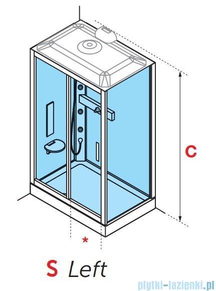 Novellini Glax 3 standard kabina prysznicowa 120x90 lewa srebrny GL32P290ST-1B