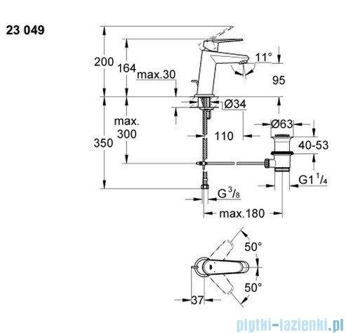 Grohe Eurodisc Cosmopolitan bateria umywalkowa DN 15 niska 23049002