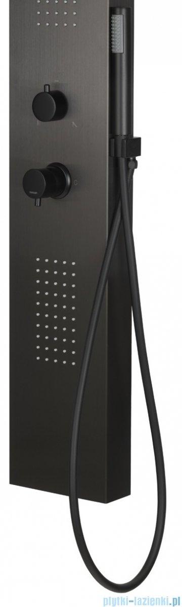 Corsan Tugela panel prysznicowy z mieszaczem czarny S-029MCZ