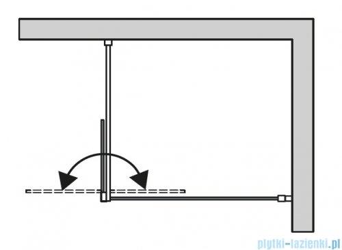 SanSwiss Cadura Black Line kabina Walk in 100cm lewa ze ścianką ruchomą profile czarny mat CADUOG1000607