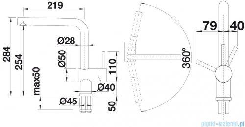 Blanco Linus  bateria wysokociśnieniowa kolor: alumetalik 516699