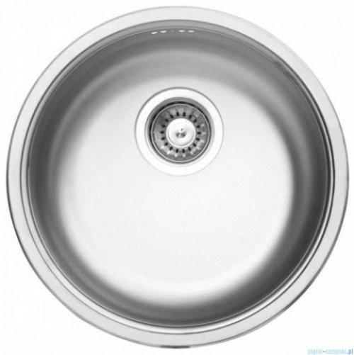 Deante Cornetto zlewozmywak 1-komorowy okrągły bez ociekacza dekor ZHC 3803