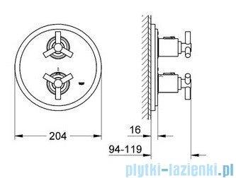 Grohe Atrio bateria termostatyczna do obsługi wiecej niż jednego wyjścia wody chrom 19395000