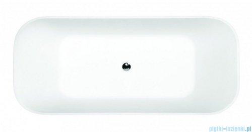 Besco Assos S-Line B&W 160x70cm wanna wolnostojąca biało-czarna #WMD-160-ALW