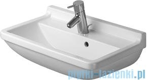 Duravit Starck 3 umywalka compact z przelewem z półką na baterię 550x370 mm 030155 00 00