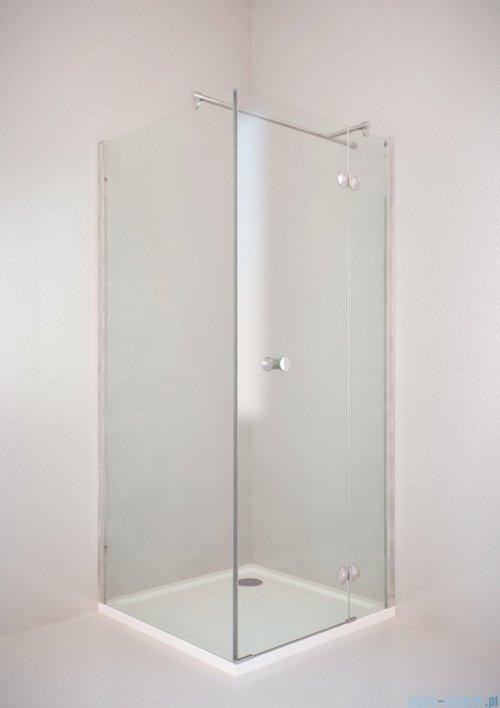 Sea Horse Fresh Line kabina natryskowa narożna kwadratowa prawa drzwi pojedyncze 90x90cm ze ścianką boczną BK247TP