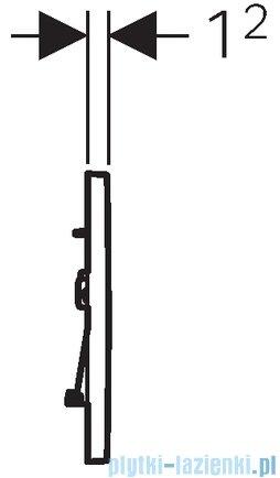 Geberit Sigma30 Przycisk uruchamiający przedni chrom błyszczący/chrom matowy/chrom błyszczący 115.883.KH.1