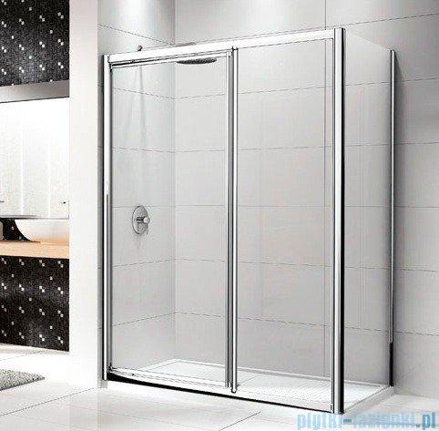 Novellini Drzwi prysznicowe LUNES G+F 108 cm szkło przejrzyste profil biały LUNESGF108-1D