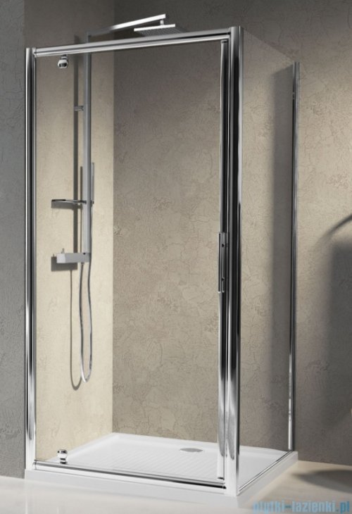 Novellini Drzwi prysznicowe obrotowe LUNES G 60 cm szkło przejrzyste profil chrom LUNESG60-1K