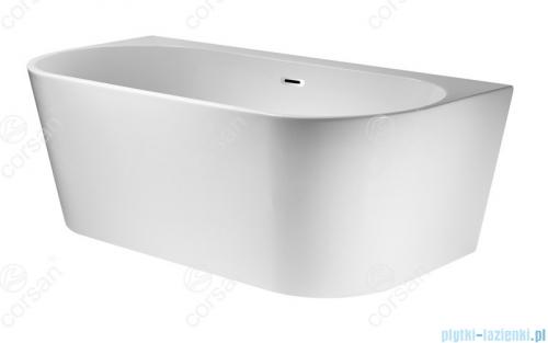 Corsan Mono wanna wolnostojąca przyścienna 150x75 cm biała + syfon klik-klak